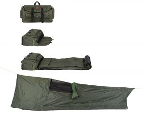 Seasonfort Untamed Backpack Bed Rolled Out.