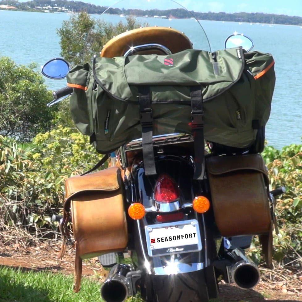 SEASONFORT Backpack Bed Motorcycle Swag
