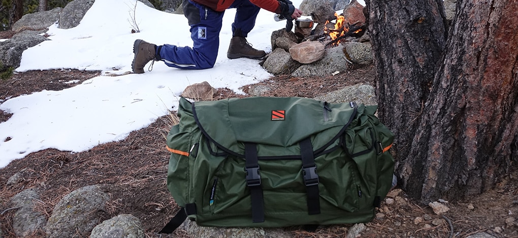 Hiking Backpack Bed In The Snow